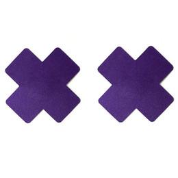 Sexy Cruz Cruz adesivos X Forma Descartável Pastéis Auto-adesivos Mamilo Capa Invisível Respirável Multicolor Escolha em Promoção