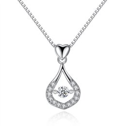 Wholesale swing dancing for sale - Group buy New Droplet Necklace Swinging Dancing Flower Spot High Quality Water Drop Fashion Necklace Best Gift For Wife Girlfriend