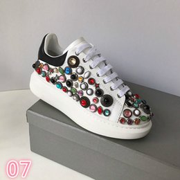 Spring Water Quality Australia - 2019 Deluxe Quality Designer spring new styles personality water drill small white shoe thick bottom round head leisure sneakers #214