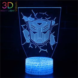 ac toys NZ - ZOEY Transformers Night Light with Remote 7 Color Changing Toy 3D Light,Birthday or Xmas Gift for Boys or Kids Room Decor