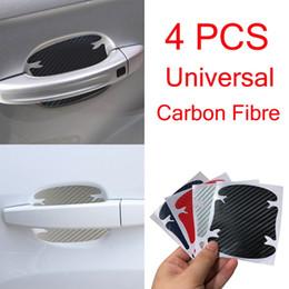 $enCountryForm.capitalKeyWord Australia - 4 Pieces Set 3D Carbon Fibre Car Door Handle Sticker Car Handle Paint Protector Anti Scratch Sticker Waterproof Vinyl Films