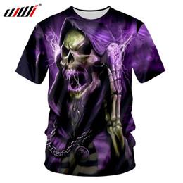 $enCountryForm.capitalKeyWord Australia - wholesale Tee Shirt Man Hot neck 3D Tee Shirt Printing Purple flash skull Hip Hop 5XL 6XL Garment Unisex Spring T Shirt