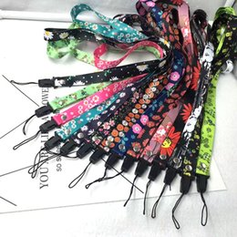 Mobile phone exhibition online shopping - New Mobile phone lanyard small fresh floral mobile phone anti fall lanyard flamingo lanyard exhibition document hanging neck