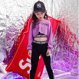 $enCountryForm.capitalKeyWord Australia - Girls Stage Show wear Costumes Kids Ballroom Jazz Dancing Outfits for Girls Boys T Shirt Crop Tops pants Hip Hop Dance Clothes