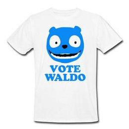 $enCountryForm.capitalKeyWord UK - T-shirt uomo Vote Waldo, BlaO-Neck Mirror inspired, serie tv, bianca