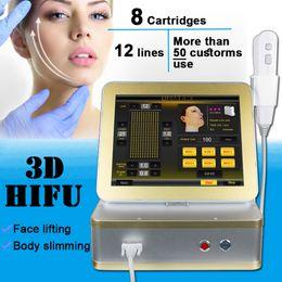 Skin Lightening Machines Australia - New 3D HIFU ultrasonic fat removal machine body slimming machine 3D Hifu skin lightening ultrasonic massage machine weight loss