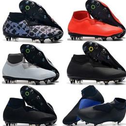 Free Soccer Shoes Australia - New arrival men Phantom VSN Elite DF SG Steel nail Soccer Shoes Socks Outdoor Football Shoes sports shoes Free Shipping EUR size 39-45