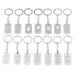 z handbag Canada - Letter (A-Z) Keychain Purse Charms for Handbags Alphabet Pendant with Key Ring Unisex Elegant Gift 26 Styles