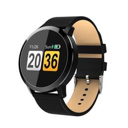 Q8 Smart Watch Australia - Eastvita Q8 Smart Watch Oled Color Screen Smartwatch Heart Rate Bluetooth Smart Wristband Men Women Fitness Tracker J190522