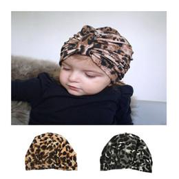 5c2681d6dbfa68 ARLONEET 0-2 Newborn Baby Boy Girl Indian knotted hat Pleuche Leopard Print  Knotted turban Beanie Headwear Gold velvet Cap W0520