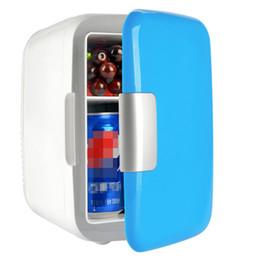 Venta al por mayor de 1 unids Liquidación de archivo Mini 4L Refrigerador portátil Nevera Congelador Enfriador Calentador Caja para la oficina en casa del coche