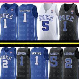 China NCAA 1 Zion Williamson Duke Blue Devils College Jersey 5 RJ Barrett 2 Cameron Reddish Irving J.J. 4 Redick 32 Christian Laettner College cheap laettner jersey suppliers