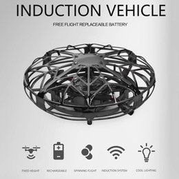 helicopter aircraft UK - 4-Axis Mini Drone UFO Hand Operated RC Helicopter Infrared Induction Aircraft Flying Ball Toys For Kids