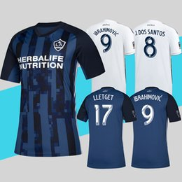 ffb028817 MLS 2019 LA Galaxy Soccer Jersey Home white Away Navy Blue Football Shirt  Zlatan Ibrahimovic Top Quality More 10pcs Free DHL Shipping