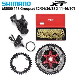 chain speed Australia - Shimano Deore Xt M8000 11 Cycle Speed Derogators 11 -46  50 T Csmx8 Tapette + Crown + Ybn Chain Mtb Groupset 32  34  36  38