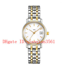 $enCountryForm.capitalKeyWord Australia - Free Shipping T52.2.281.31 quartz Women's 24mm stainless steel Gold PVD coating band Classic watch white dial watches