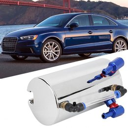 Car Modified Universal Aluminum Alloy Engine Oil Reservoir Catch Can Tank Accessory Car Modified Accessory 600ml on Sale