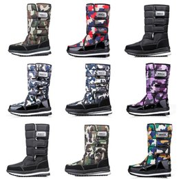 waterproof camo fabric Australia - Cheap Discount Fashion designer boots for women men Camo Half Boot Classic snow winter boots waterproof platform booties 36-46