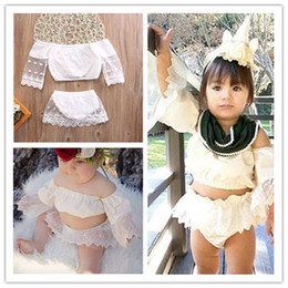 fashion skirt set Canada - Baby Cute Skirt 2 Pcs Sets Fashion Girls Outfits Lace Sleeved Tops T-shirt+ Short Skirt Two-pieces Tracksuit Summer Lovely Girl Skirt E22501
