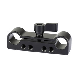"""$enCountryForm.capitalKeyWord NZ - CAMVATE 15mm Dual Rod Clamp Adapter With 1 4""""-20 and M4 Threads for dlsr shoulder rig kit C2099"""