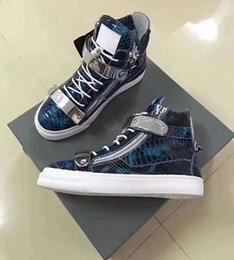 Toptan satış Yeni marka İtalyan tasarımcı erkek spor ayakkabı kadın rahat ayakkabılar hakiki deri Dantel-Up yüksek kahverengi çift fermuar dekora