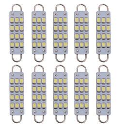 Rigid loop light bulb online shopping - 10pcs mm Festoon LED Rigid Loop V LED Chips SMD Bulbs Car Festoon Light Auto Interior Dome Light Lamps White