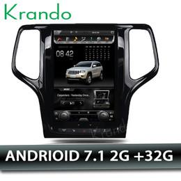 "Digital Stereo Systems Australia - Krando Android 7.1 10.4"" Vertical screen car DVD multimedia system GPS for Jeep Grand Cherokee 2014-2016 navigation stereo radio"