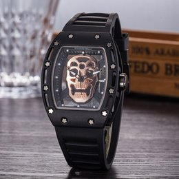 $enCountryForm.capitalKeyWord Australia - Luxury richard Skull sport Watches men women Quartz Watches Fashion Watch dial inlaid drill Mens Quartz Watches Free Shipping
