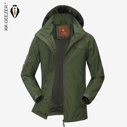 $enCountryForm.capitalKeyWord Australia - Spring Thin Jacket Men Waterproof Autumn Fashion Hooded Jackets Light Parkas Jacket Badge Leisure Plus Size M-4XL Casual Brand