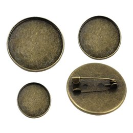 f5893c522 ewelry Accessories Jewelry Findings Components 20pcs lot Vintage Round Blank  Metal Setting Bezel Blank Base Cabochon Brooch with Inner Di.