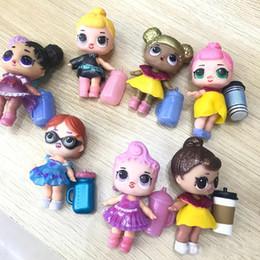 Wholesale Kids Clothes Shoes Australia - LOL Dolls DIY Toys Surprise Girls Romdan Models doll Contains Doll Bottle Clothes Shoes Glasses or Headwear Complete LOL kids toys