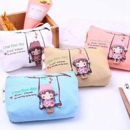 Kids & Baby's Bags Purses & Wallets Lkeep Cute Canvas Coin Bag Lovely Girls The Swing Holder Purse Small Zipper Wallet Card Purse Zip Key Case Money Clip