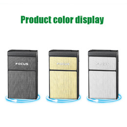 usb charged electronic cigarette lighter Australia - Cigarette Box Comes With USB Charging Cigarette Lighter Portable Smoking Accessories Electronic Lighter