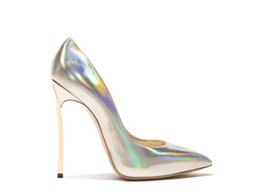 slip rubber shoes Canada - Sexy Gold Sliver Shiny Leather Thin High Heels Women Pumps Slip On Stiletto Heels Ladies Pumps Pointed toe Party Night Club Shoes
