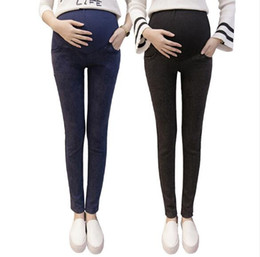 f7ced1a4a9 Spring Maternity Jeans For Pregnant Woman Pregnancy Denim Pants Winter  Thicken Trousers maternity clothing Plus Size Harem pants