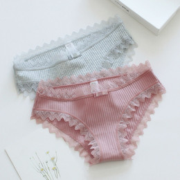 Wholesale girls sexy pink lingerie online – Sexy Cotton Women s Panties Briefs Lovely Girls Underwear Multicolor Lingerie Intimates