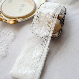 diy cotton lace NZ - 8.5cm Wide Antique Rose Pattern Cotton Lace Trim for Sewing Crafts Dolls DIY Sewing Material Wedding Gown Fabric 5 Meter Per Lot