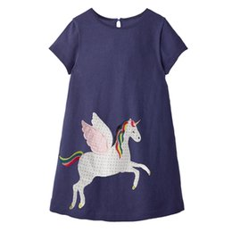 Chinese  Summer Girl Dress Unicorn Animals Toddler Party Dress European & American Style Baby Girl Clothes wholesale Dress manufacturers