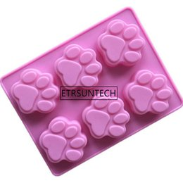 $enCountryForm.capitalKeyWord Canada - wholesale Silicone Chocolate Mold Cat Dog Paw Bone Soap Ice Mold Animal Footprint Cookie Baking Tool