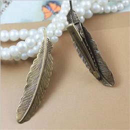 Discount feather jewelry diy - 10pcs lot Retro Feather Clip Hair Jewelry Alligator Clip Hairpin Benn Hair Clips Leaf Feather Barrettes DIY Wear
