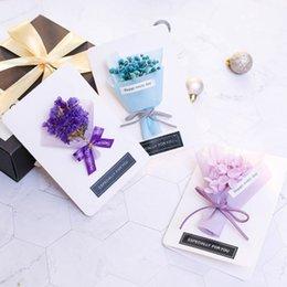 Criativa novidade caixa de presente embalagem uma variedade de estilos romântico pequeno buquê flores secas cartão em Promoção