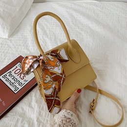 $enCountryForm.capitalKeyWord Australia - Casual cross-body bag handbag small square with a fashionable single-shoulder silk scarf