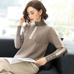 $enCountryForm.capitalKeyWord NZ - Fall and Winter 2018 New Short Coloured Knitted Shirts Edition Fashion Individual Sweaters Women's Half-high-collar Underwear