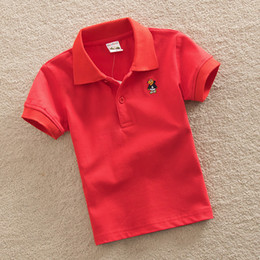 Boys Polo Tops Australia - good quality Children Polo Shirts 2019 New Kids Boys Solid Short Sleeve Shirts Summer Boys Little Girls 100% Cotton Lapel Tops