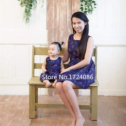 Princesses Clothes Australia - Sundresses Mother Daughter Dresses Mom And Daughter Dress Matching Mother Daughter Clothes Girls Cherry Princess Dress 2019 New Y19051103