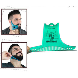 TemplaTe Tools online shopping - New Beard Shaping Styling Template Beard Comb Men Shaving Tools ABS Comb for Hair Trim Template Combs