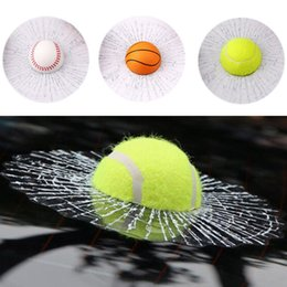 Discount 3d ball window sticker - 3D Car Stickers Funny Auto Car Styling Ball Hits Car Body Window Sticker Self Adhesive Baseball Tennis Decal Accessories