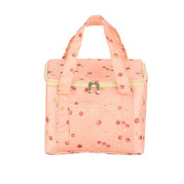 b51b1172a Canvas Dot Print Insulated lunch bag Portable Zipper bag Picnic Carry Case  Thermal Lunch For Womwn bolsa termica#H35