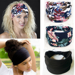 Fashion Wide Cotton Yoga Headband For Women Adult Leopard Dots Striped Printed Fabric Hairband Turban Headwrap Hair Accessories Girl's Accessories Girl's Hair Accessories