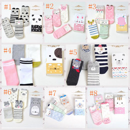 Wholesale 2018 autumn and winter new baby girl socks Korean women socks cotton cute cartoon creative kids tube socks with gift box set pair